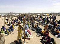 Darfur vluchtelingenkamp