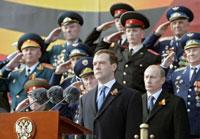 Medvedev Poetin militairen