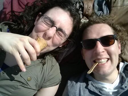 Annabelle en Stijn lusten wel een ijsje