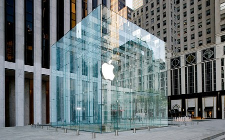Glazen kubus Apple Store