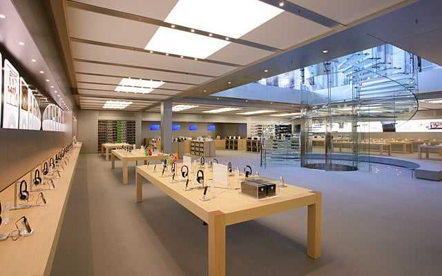 Apple store in new york glazen kubus van fifth avenue