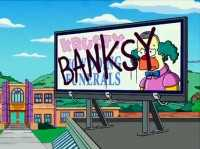 Banksy Simpsons intro