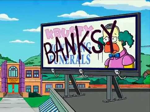 Banksy Simpsons intro