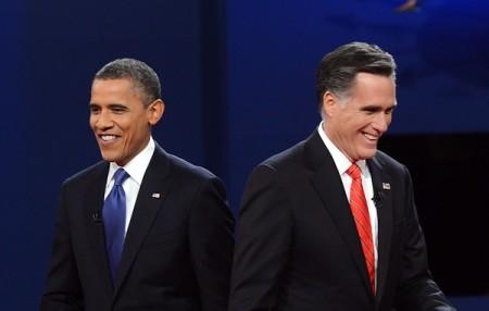 Barack Obama en Mitt Romney