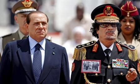 Berlusconi and Qadhafi