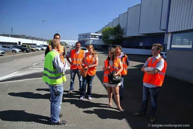 Bezoek aan de PSA fabriek in Sochaux