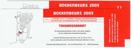 Toegangskaarten Boekenbeurs 2005