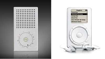 Braun T3 radio en Apple iPod