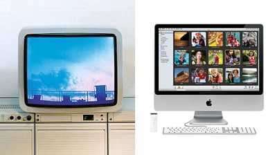 Braun Atelier tv en de Apple iMac