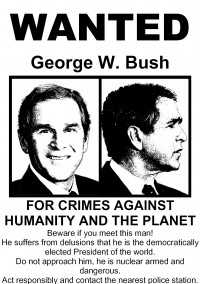 Bush wanted poster