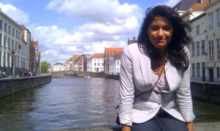 Carmen at the Spiegelrei in Brugge