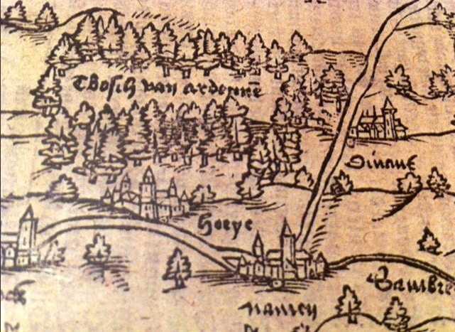 Ardennen in Corte Cronikel, 1557