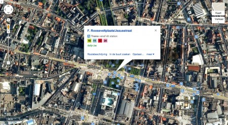 De Lijn routeplanner in Google Maps