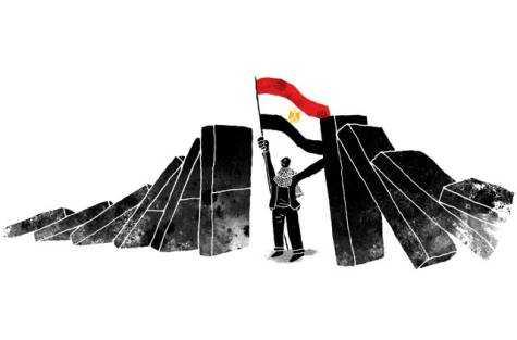 Egypte politieke dominostenen