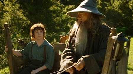 Frodo en Gandalf