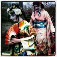 Geisha in de Japanse Tuin