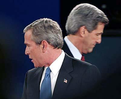 George W. Bush en John Kerry