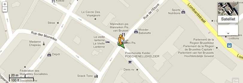 Google Street View België met  frieten