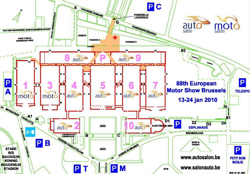 Grondplan Autosalon Brussel 2010