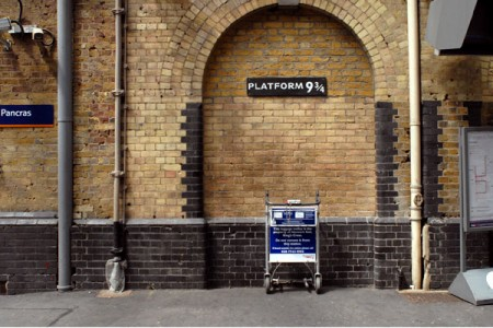 Harry Potter en King's Cross platform 9 3/4
