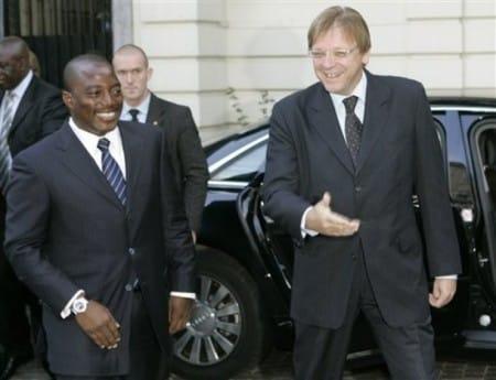 Joseph Kabila en Guy Verhofstadt