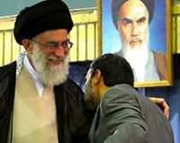 Khamenei en Ahmadinejad