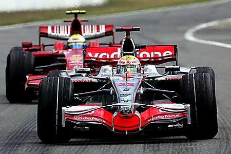 Lewis Hamilton en Felipe Massa