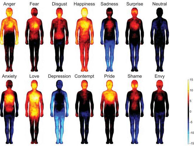 Lichaamskaart van emoties