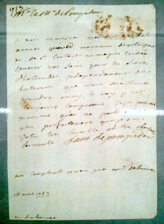 Madame de Pompadour handschrift