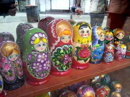 Matroesjka's in de vitrine