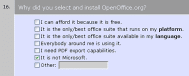 OpenOffice User Survey