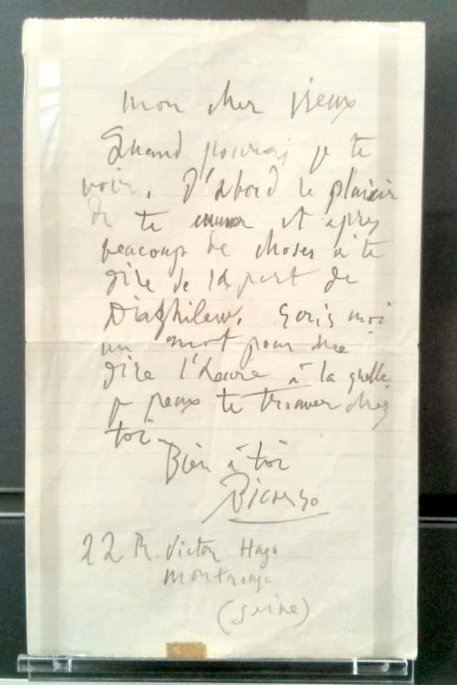Pablo Picasso handschrift