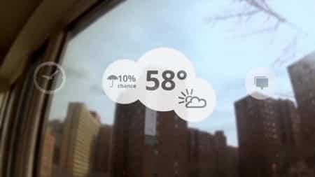 Kijk naar buiten en zie het weerbericht van de dag