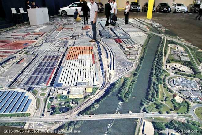 Plan van de PSA fabriek Sochaux