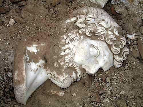 Hoofd van keizer Hadrianus