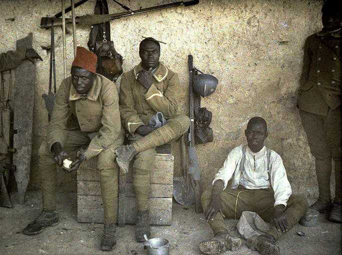 Senegalese and other French African colony soldiers