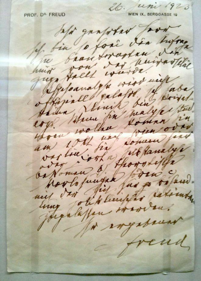 Sigmund Freud handschrift