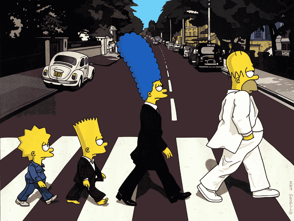 The Simpsons als The Beatles