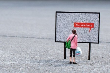 Slinkachu: You are here