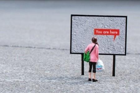 Slinkachu: You are here