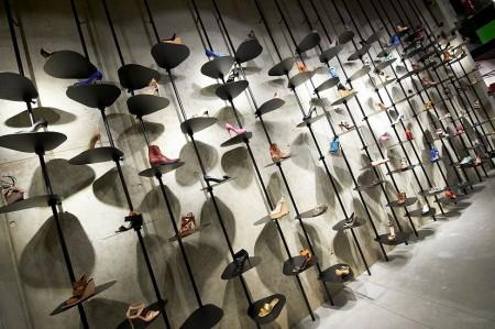 Muur van schoenen