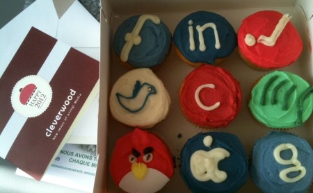 Social media cupcakes van Cleverwood
