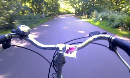 Stijn Vogels op de fiets