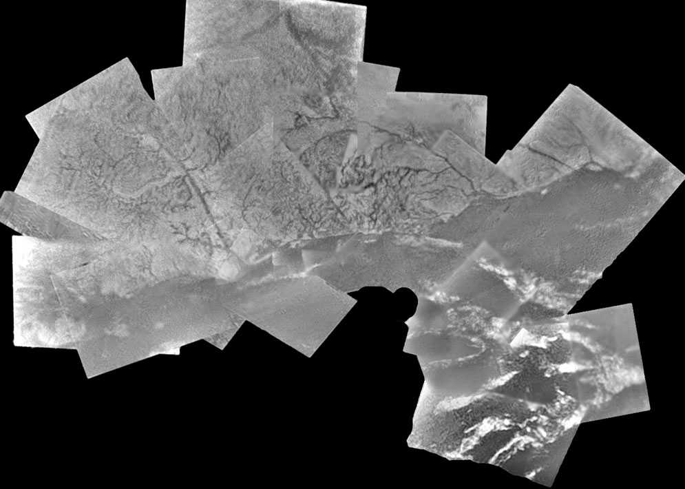Kaart van Titan