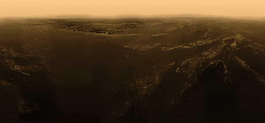 Landschap van Titan
