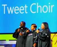 The Tweet Choir of Microsoft at CES