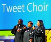 The Tweet Choir of Microsoft at CES