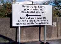 Welsh road sign error