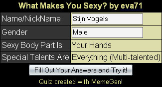 What makes you sexy?