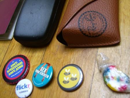 Collectie buttons en een Google-snoepje